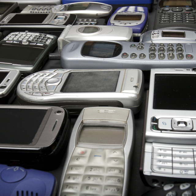 """old cell phones"" stock image"