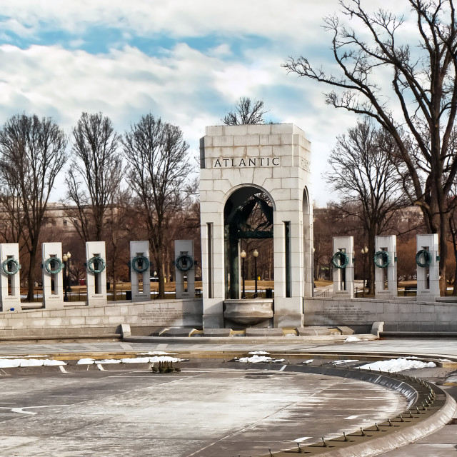"""The National World War II Memorial"" stock image"