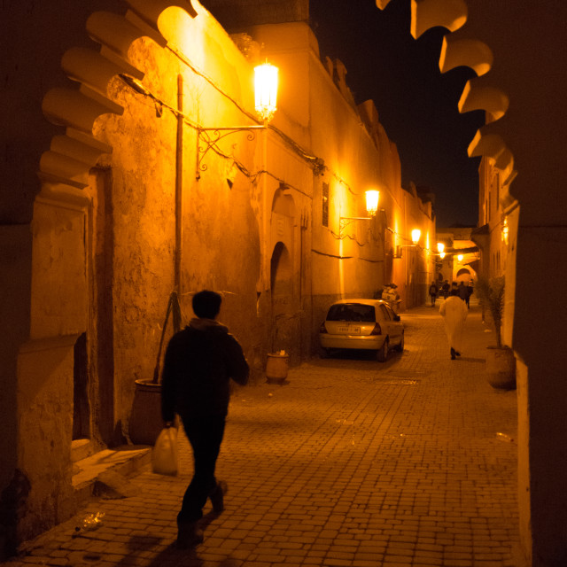 """Marrakech evening stroll"" stock image"