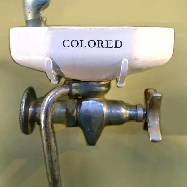 """colored only drinking fountain"" stock image"