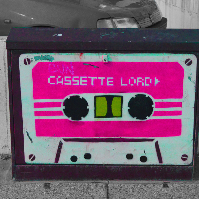 """""""Cassette Lord"""" stock image"""