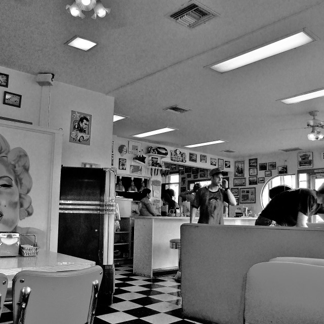 """American Diner"" stock image"