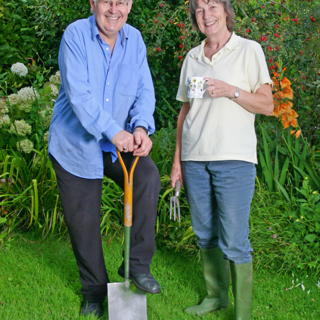 """gardening couple"" stock image"