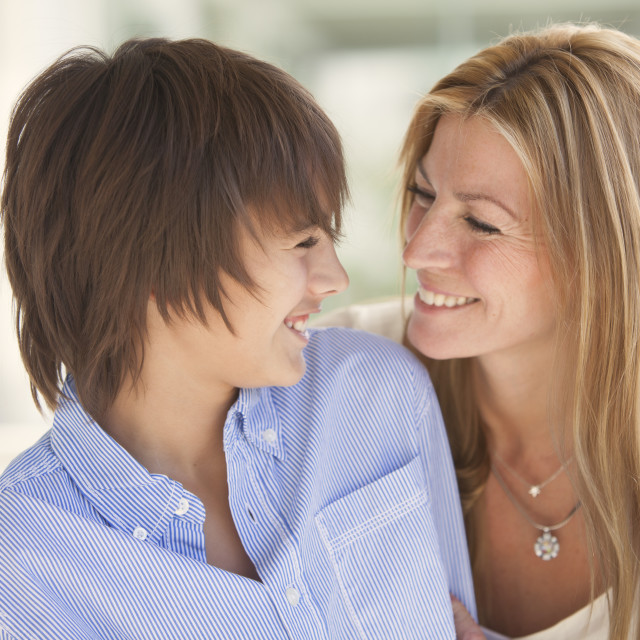 """""""Happy mother and son"""" stock image"""