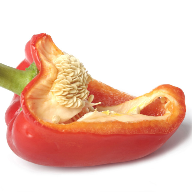 """half a pepper"" stock image"