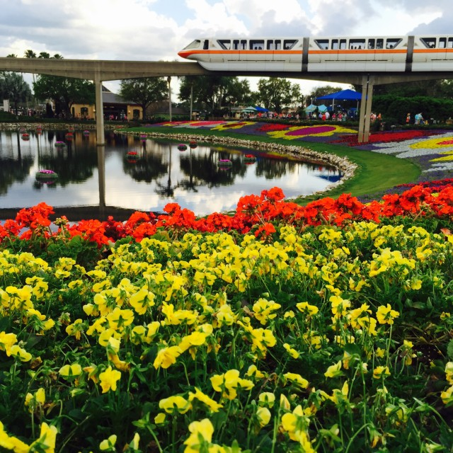 """""""Monorail at Epcot Center"""" stock image"""