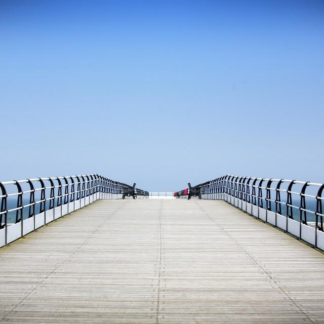 """Saltburn Pier"" stock image"