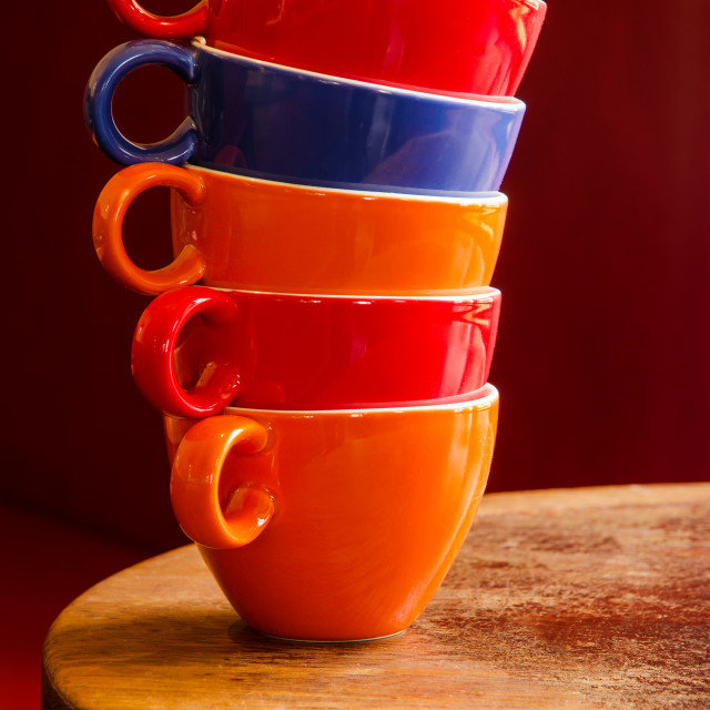 """Colourful Cups"" stock image"