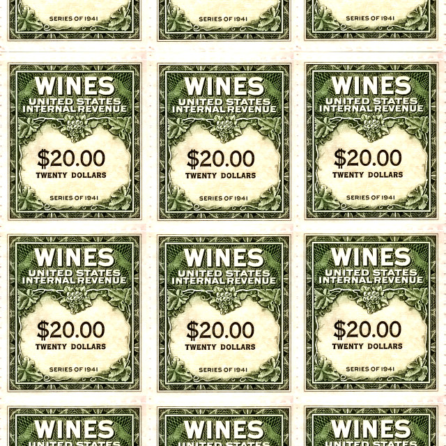 """wine stamps"" stock image"