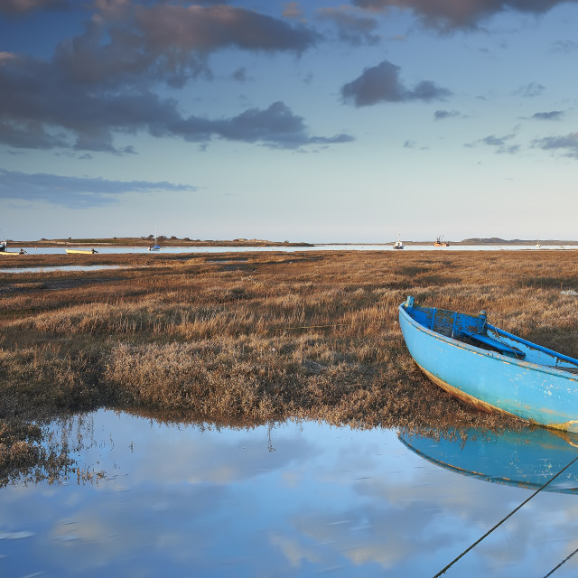 """Brancaster staithe"" stock image"