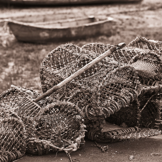 """Crab pots"" stock image"