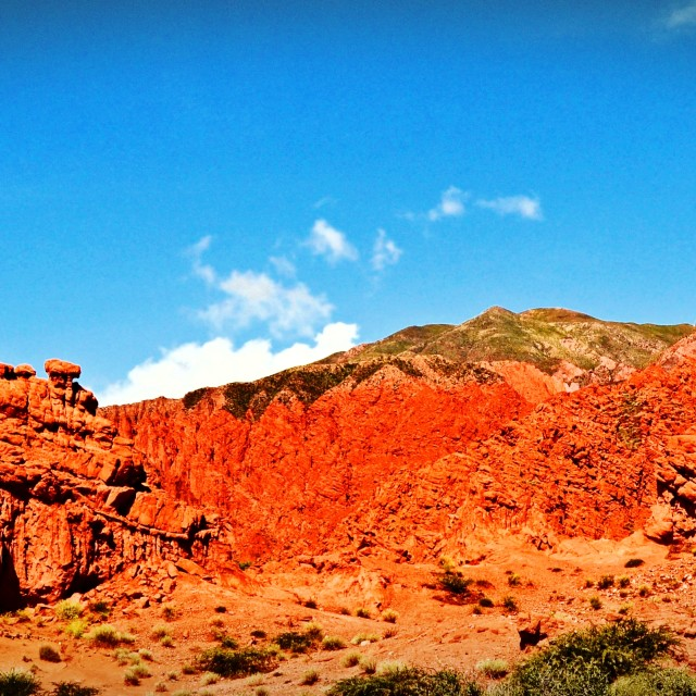 """Cerros Colorados Quebrada de Humahuaca, Argentina"" stock image"