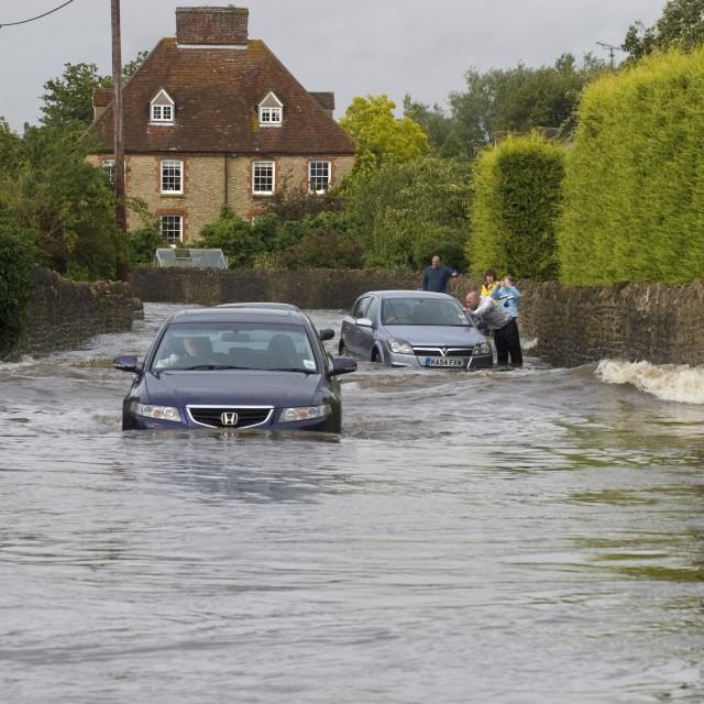 """driving through floods"" stock image"
