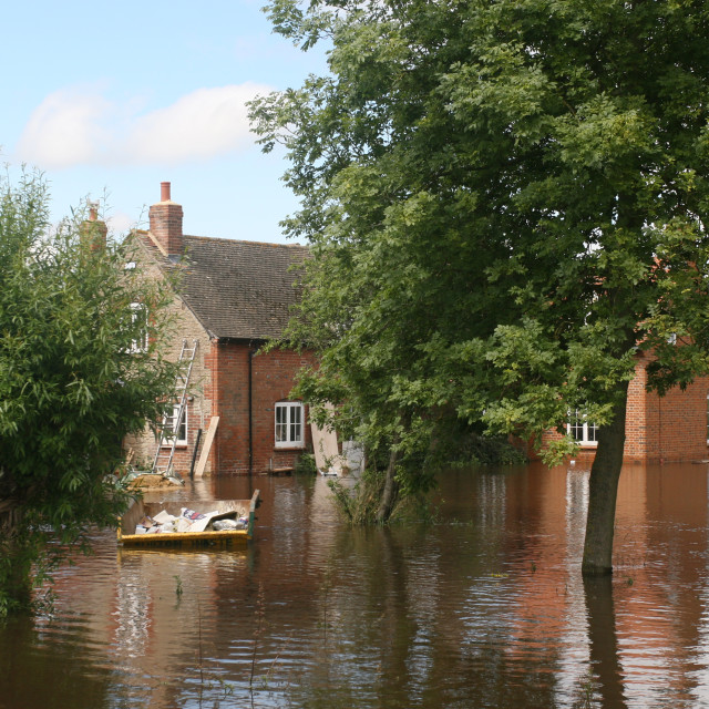 """flooded house"" stock image"