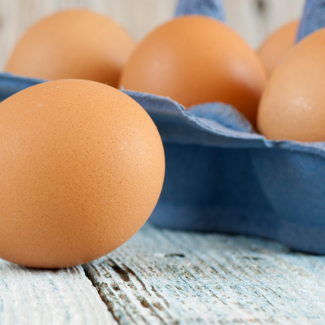 """Eggs in box"" stock image"