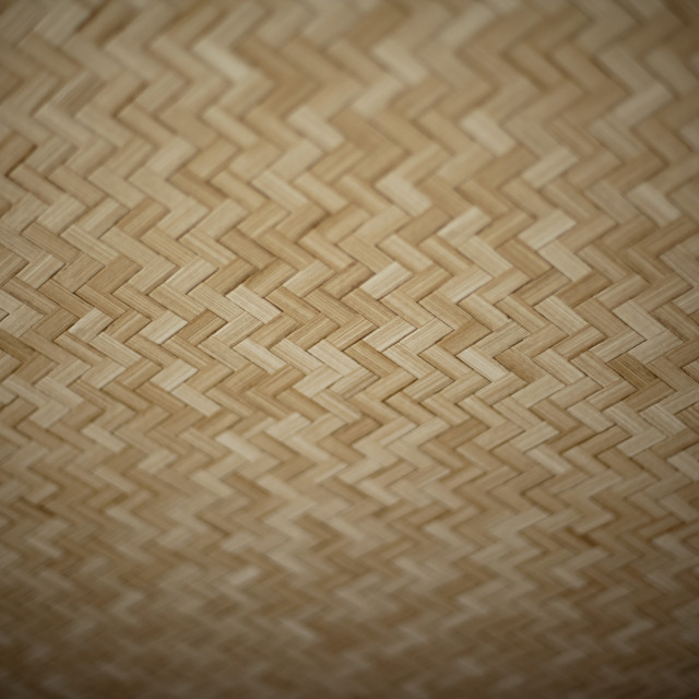 """Woven bamboo ceiling"" stock image"