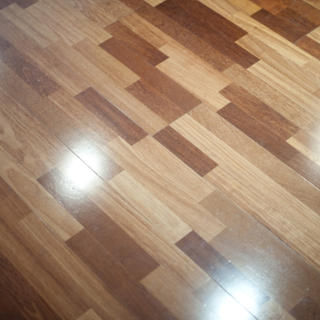 """Polished laminated floor"" stock image"