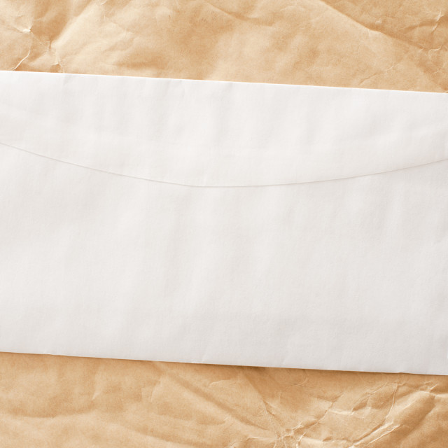 """""""envelope on creased paper"""" stock image"""