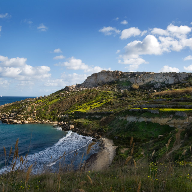 """Maltese Coastline"" stock image"