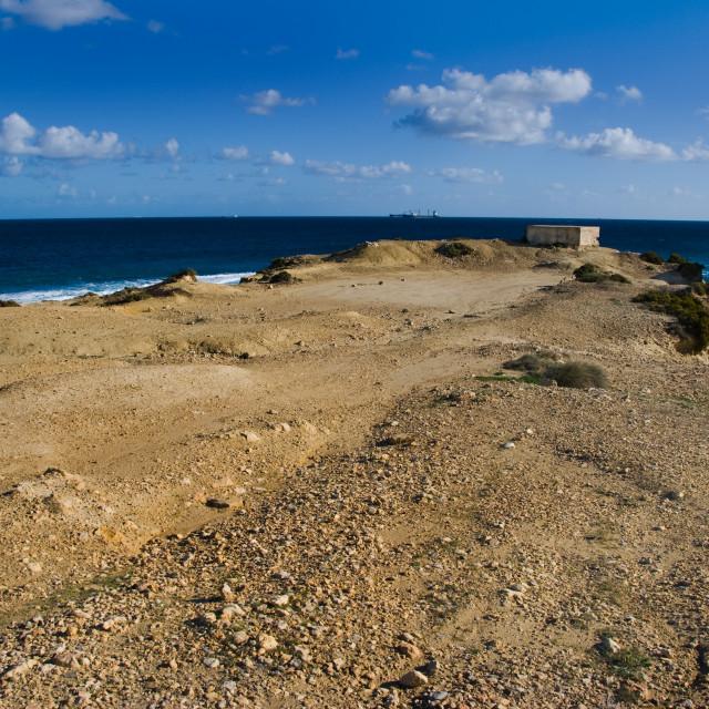 """Selmun Coast, Malta"" stock image"