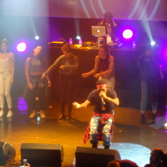 """""""Musicalize: Omarion on stage with ladies from the audience, Koko Club, Camden London, Mon. 16th March 2015"""" stock image"""