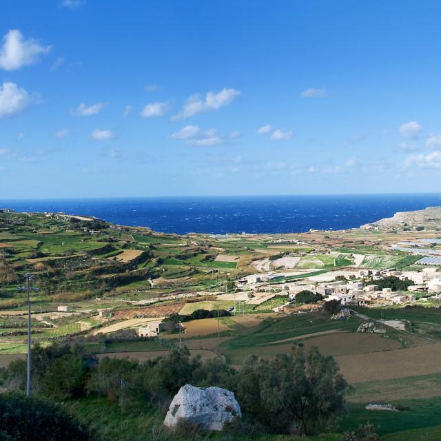 """Malta Coastline Panorama"" stock image"