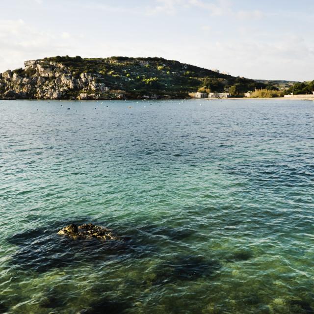 """""""Mistra Bay, Malta"""" stock image"""