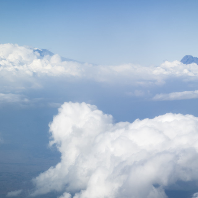 """The skies above Kilimanjaro"" stock image"
