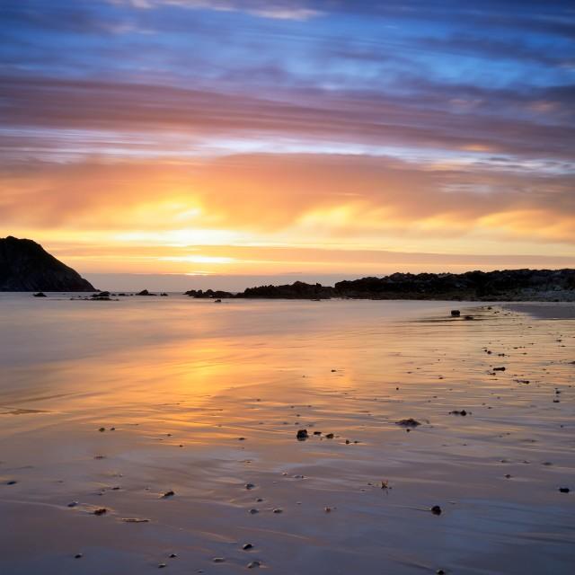 """Beautiful sunset at beach"" stock image"