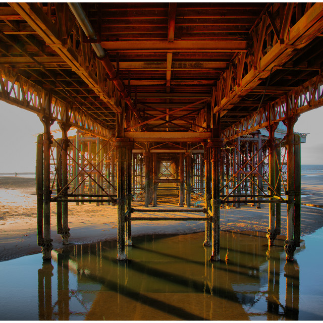 """Under the Boardwalk"" stock image"