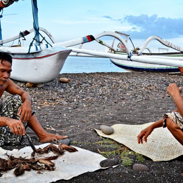 """""""Fishermen Amed"""" stock image"""