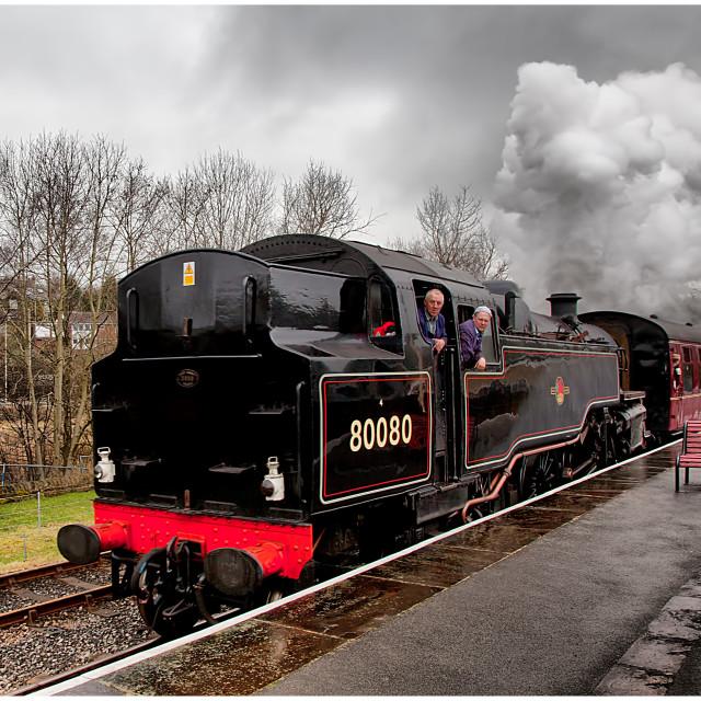 """80080 Standard Tank, East Lanc's Railway"" stock image"