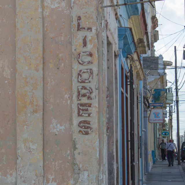 """Old Cuban Shop sign"" stock image"