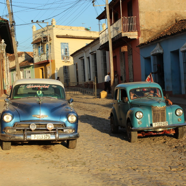 """""""Old cars in Cuba"""" stock image"""