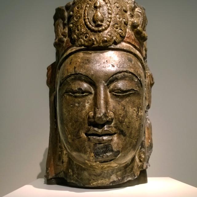 """Head of the Bodhisattva"" stock image"