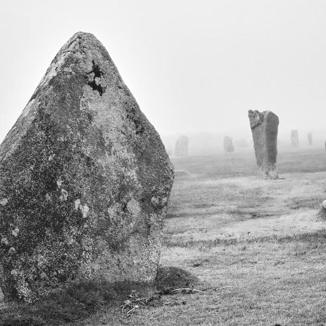 """The Hurlers Stone Circle"" stock image"