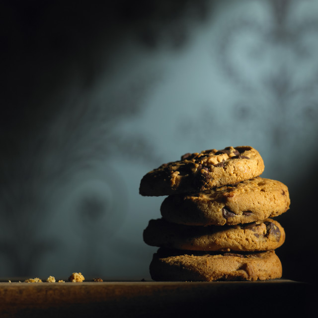 """Chocolate chip cookies"" stock image"