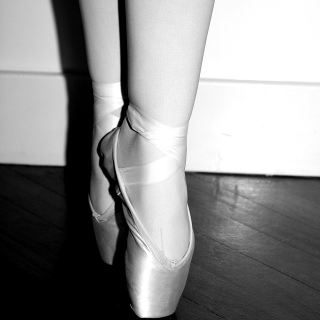 """Pointe Shoes"" stock image"
