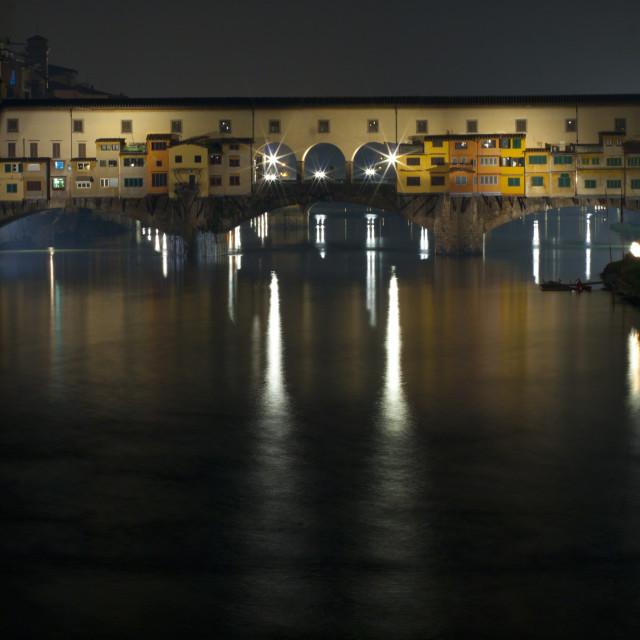 """Ponte Vecchio by Night"" stock image"