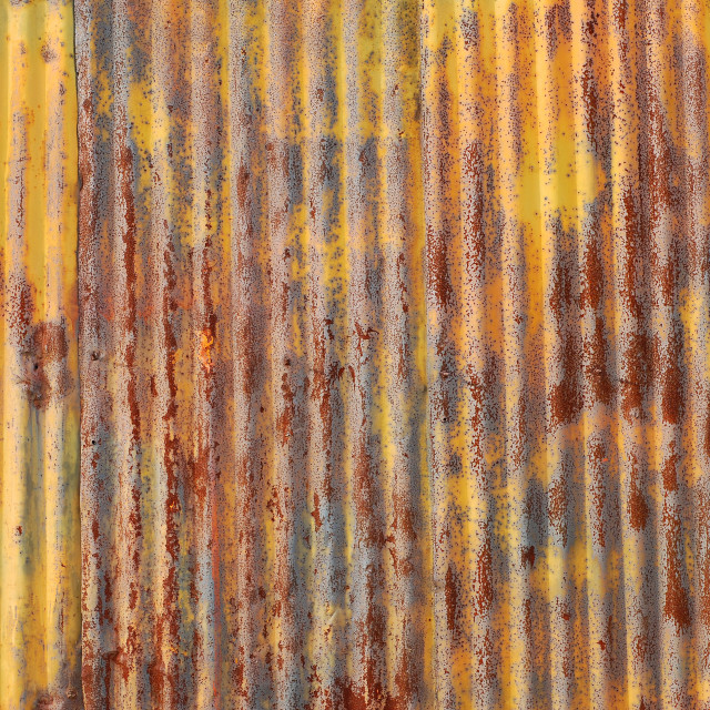 """Old rusted metal wall"" stock image"