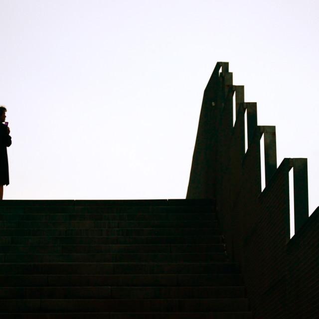 """Barcelona Silhouette"" stock image"