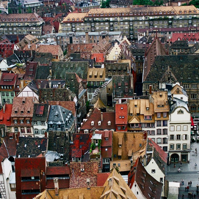 """Strasbourg Rooftops"" stock image"