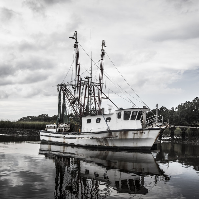 """Shrimp Boat"" stock image"