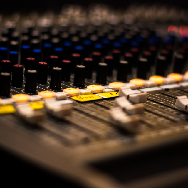 """Mixing Deck"" stock image"