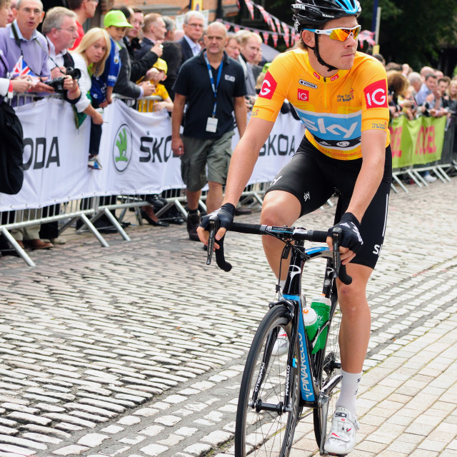 """Tour Of Britain, Luke Rowe ."" stock image"