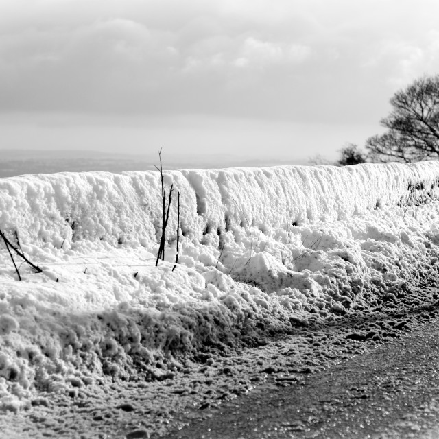 """Derbyshire View Winter ."" stock image"