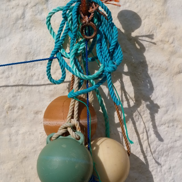 """Ropes and Floats"" stock image"