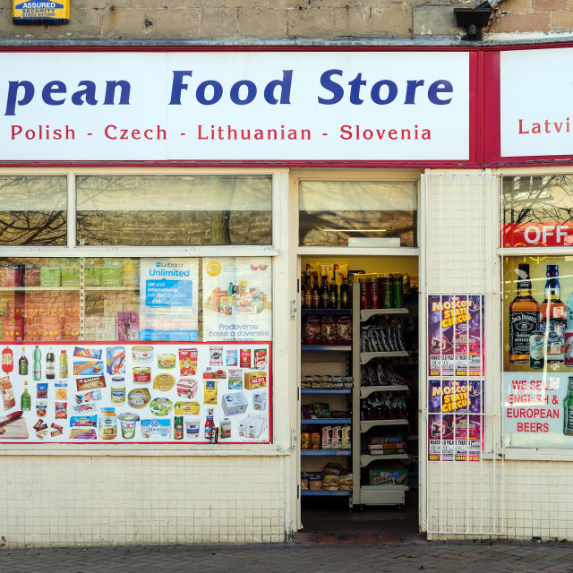 """European Food Store."" stock image"