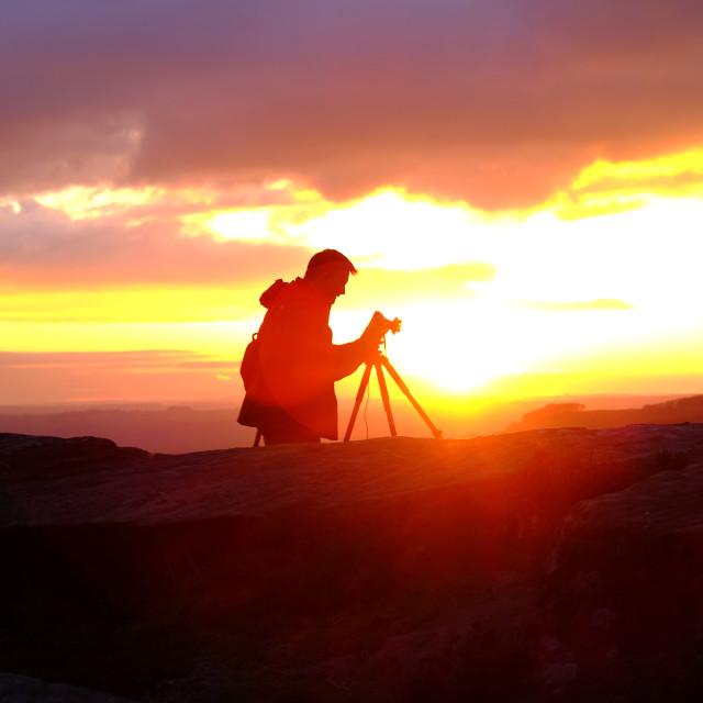 """Landscape Photographer ."" stock image"
