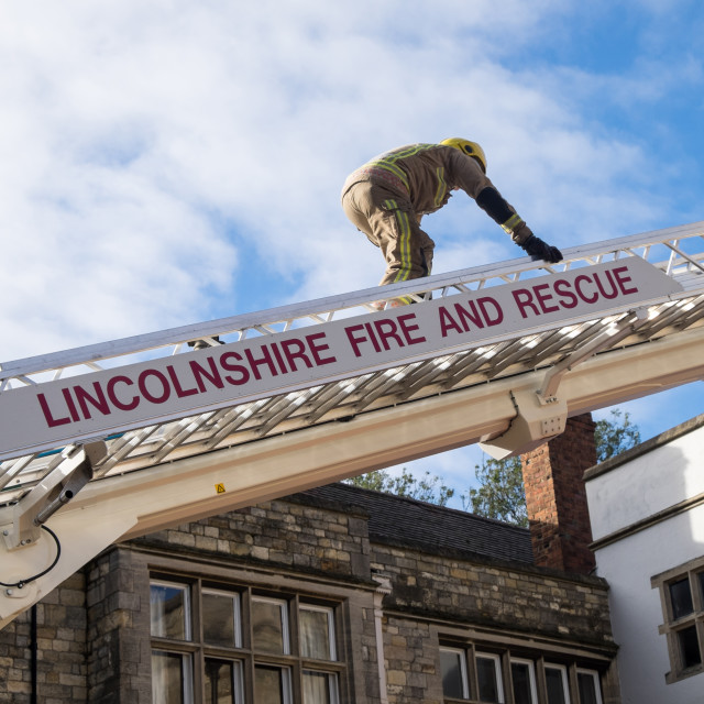 """""""Lincolnshire Fire And Rescue ."""" stock image"""